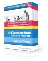 ITIL® Intermediate Service Design SD Complete Examination Package ITIL 2011 Service Design - Complete Examination package:   45 days  access to elearning 45 days access to online exam preparation program Prepaid Exam Voucher. + Free 60 Day enrolment extensions to both eLearning and exam prep courses + Free advanced trainer support