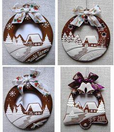 zvonky a koule/à transposer en porcelaine froide ou bois+ dentelles&broderies anciennes de récup+peinture à cerner/DB