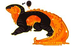 [adopt] Pumpkin Guts - closed by Skelefrog on DeviantArt Cute Fantasy Creatures, Mythical Creatures Art, Mythological Creatures, Magical Creatures, Fantasy Character Design, Character Design Inspiration, Character Art, Monster Design, Monster Art