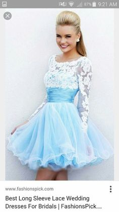 1447c32fd48 2014 Blue White Sherri Hill 21234 Short Prom Dress Short lace blue dress I  call this a Cinderella fairy tale dress   Brighter Sides Andersen Raines ...