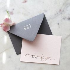 Personalized envelopes with our thank you cards have been one of our favorites lately ✨[you can send us an e-mail to inquire about personalized stationery]