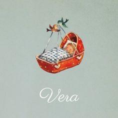 Retro #geboortekaartje Vera, über cute!