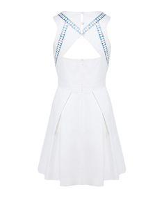 Karen Millen White neon embroidery cotton dress, Designer Dresses Sale, Karen Millen , SECRETSALES