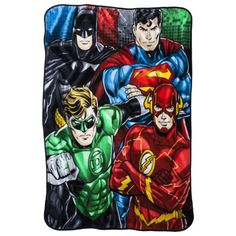 Feel the power with this Justice League throw blanket