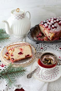 Lemon Cake with Cranberries and Lemon Icing at Cooking Melangery