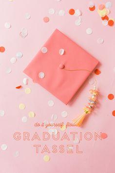 DIY Paper Flower Graduation Tassel