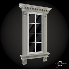 Exterior Window Frame Patio 30 Ideas For 2019 Exterior Window Molding, Interior Window Trim, Classic House Design, House Front Design, Neoclassical Architecture, Classic Architecture, House 3d Model, Exterior Remodel, Window Styles