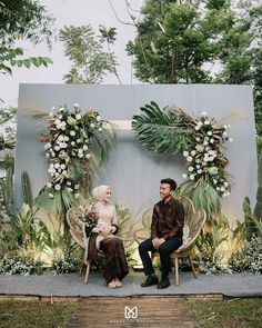 Wedding Stage Backdrop, Wedding Backdrop Design, Wedding Stage Design, Engagement Decorations, Outdoor Wedding Decorations, Backdrop Decorations, Ceremony Backdrop, Rustic Backdrop, Javanese Wedding