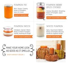 Gold Canyon Pumpkin Scented Candles! Veronicasalaices.mygc.com