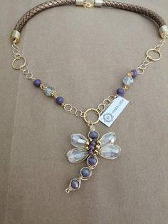 Dragonfly Jewelry, Wire Jewelry, Beaded Jewelry, Jewelry Necklaces, Beaded Bracelets, Diy Necklace, Fashion Necklace, Fashion Jewelry, Beautiful Necklaces