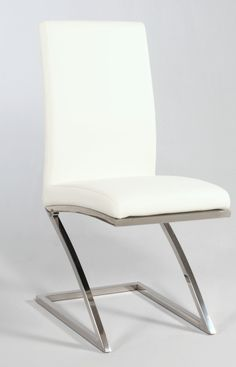 """Chintaly Imports Jade """"Z"""" Frame Contemporary Side Chair Set of 4"""