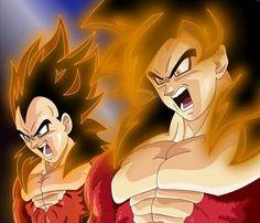 Vegeta and Goku (SSJ 4)