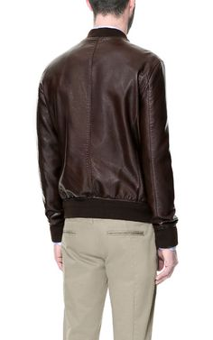 FAUX LEATHER JACKET WITH ZIPS ON THE CHEST - Jackets - Man - ZARA United States