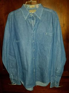 Preswick & Moore Mens L/S Denim Button-Up Shirt 161/2 34-35 Reg Fit 100% Cotton in Clothing, Shoes & Accessories, Men's Clothing, Casual Shirts | eBay