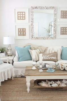 Themes For Living Rooms What Size Rug Do I Need In My Room 162 Best By The Sea Images 2019 Coastal Easter 2017