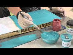 Cuaderno de Taller Nº2: Pintura de cal - YouTube Homemade Crafts, Easy Diy Crafts, Recycled Crafts, Creative Crafts, Decoupage, Diy Videos, Craft Videos, School Material, Painting Antique Furniture