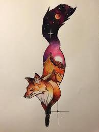 Resultado de imagem para tatuagem de raposas