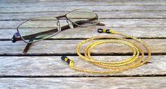 Brillenkette gold von Unbehauen - Schmuckdesign auf DaWanda.com