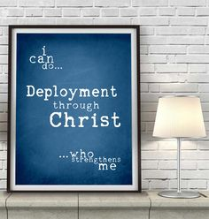 Military Deployment PRINT or CANVAS I can do all things Philippians 4:13 us army navy marines air force wife wall art home decor,All sizes by HappyPlaceInk on Etsy https://www.etsy.com/listing/218606312/military-deployment-print-or-canvas-i
