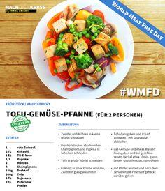 Heute mal fleischlos genießen? Dann empfehlen wir die köstliche Tofu-Gemüse-Pfanne!