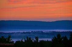 Fog in the Valley before sunrise