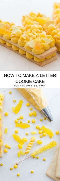 How to make a Letter Sugar Cookie Cake with Buttercream. | fun cookie cake ideas | cookie cake recipes | unique dessert recipes | diy cookie cake || Jenny Cookies #cookiecake #lettercake #diycookiecake