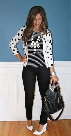 e9b5df80fac Spotted Stacy of @Outfitted411 in Charlotte Russe shoes! Polka Dot  Cardigan, Polka Dot