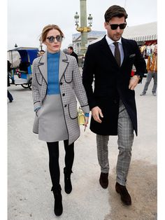 Olivia Palermo and Johannes Huebl attend the Valentino show as part of the Paris Fashion Week Womenswear Fall/Winter March 2015 in Paris, France. Get premium, high resolution news photos at Getty Images Street Style Trends, Best Street Style, Looks Street Style, Estilo Olivia Palermo, Olivia Palermo Lookbook, Olivia Palermo Outfit, Fashion Mode, Look Fashion, Autumn Fashion