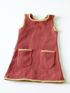 This little knit Sundress in Cotton-Ease yarn is perfect for a nice summer outing! sundress pattern, knit sundress, knitting patterns, crochet, children clothes, sundresses, yarn, knit pattern, free knit