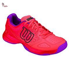 quality design 42ac9 8b9c6 Wilson Kaos Comp Jr Radiant.r Coral Punc PK, Chaussures de Tennis Mixte  Enfant  Amazon.fr  Chaussures et Sacs