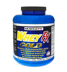 MUSCLE FXВ® WHEY FX GOLDВ® Biologically Active Advance Whey Protein 5 lbs (Vanilla)