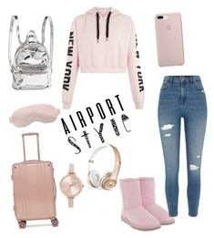 """Untitled #127"" by catalina69 on Polyvore featuring UGG, River Island, CalPak, Michael Kors, Slip and airportstyle"