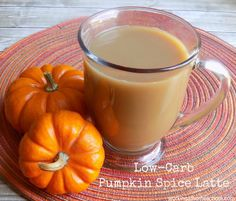 Low-Carb Pumpkin Spice Latte - take a break from Starbucks and make this healthy version instead! Low-Carb, works for Trim Healthy mama