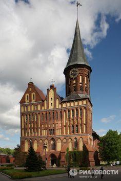 Кафедральный Собор в бывшем историческом районе Калининграда Кнайпхофе.   Фото: Игорь Зарембо