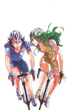 Yowamushi Pedal (Yowapeda) - Yuusuke Makishima x Jinpachi Toudou Cycling Art, Cycling Bikes, Manga Japan, Otaku, Fanart, Yowamushi Pedal, Anime Base, Anime Ships, Cute Faces