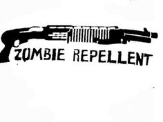 Zombie repellent stencil template