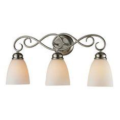 Cornerstone Lighting Chatham 3 Light Bath Bar Finish/Glass Color: