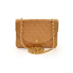 Goes With Everything! Chanel Vintage Brown Quilted Lambskin Classic Flap Bag