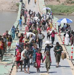 Desperate plea of the Yazidi refugees camped on the border with Syria