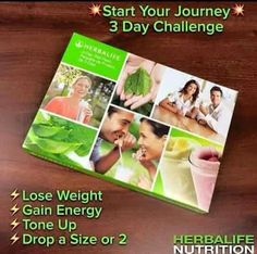 Herbalife Trial Pack: Three-day trial protein shake mixes with supplements. Enables a person to try out the weight loss program before taking on a life-time commitment to make a change to a healthier life style. Herbalife 3 Day Trial, Herbalife Quotes, Herbalife Weight Loss, Herbalife Recipes, Herbalife Nutrition, Herbalife Products, Herbalife Plan, Loose Weight, Weight Gain