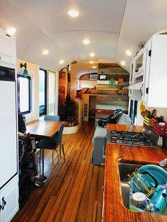 50 RV Camper Trailers Interior Design Ideas (23)