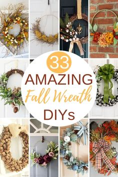 33 Amazing Fall Wreath DIYs - Get inspired to make a fall wreath using this collection of 33 DIY fall wreaths. Learn how to make a fall wreath inspired by these shared by a group of talented home decor bloggers. #fallwreathideas #diyfallwreath #diyfallwreathideas #howtomakeafallwreath Easy Fall Wreaths, Diy Fall Wreath, How To Make Wreaths, Pumpkin Wreath, Autumn Activities, Fall Pumpkins, Diy On A Budget, Fall Crafts, Fall Halloween