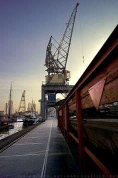 Havenmuseum Rotterdam. Art by digital artist Hans Hunefeld.