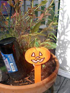 Halloween Pumpkin Garden Stake