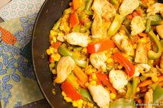 Mexikói zöldséges csirkeragu - EgészségREformálunk Paleo, Wok, Cobb Salad, Chicken, Meat, Beach Wrap, Cubs, Paleo Food