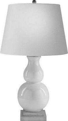 One Light Natural Paper Shade Celadon Crackle Porcelain Table Lamp : SKU 22JGZ | Sescolite Lighting
