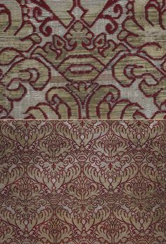 The pattern is a lattice of arabesques containing a symmetrically placed and balanced stylized plant motif. Century Size x Size 56 x