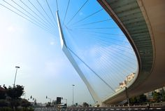 Photo of the day: Bridge of Strings in Jerusalem - modeled after David's Harp. (1 Samuel 16:23)