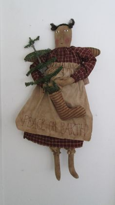 Primitive Christmas Angel by Bettesbabies on Etsy, $46.00