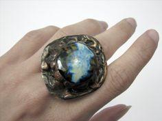 Oko cyklonu - ceramiczny pierścień w Sztuk_Kilka_Silver na DaWanda.com